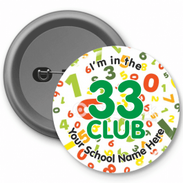 33 Club Times Table Button Badges
