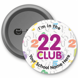 22 Club Times Table Button Badges