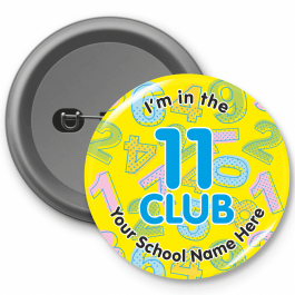 An image of 11 Club Times Table Button Badges