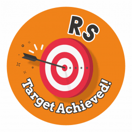 RS Target Achieved Stickers