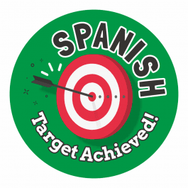 Spanish Target Achieved Stickers