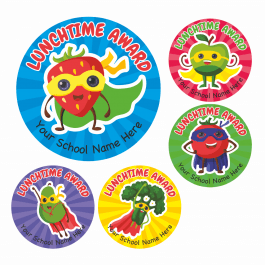 Lunchtime Award Superhero Stickers