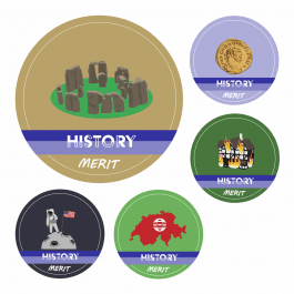 History KS1 and KS2 Curriculum Stickers