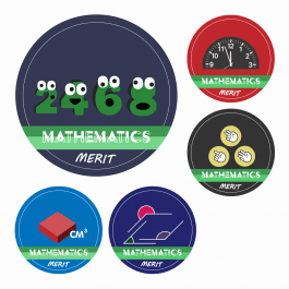 Maths KS1 and KS2 Curriculum Stickers