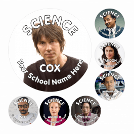 Modern Scientist Reward Stickers