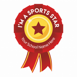 Sports Day Praise Rosette Stickers