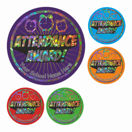 Attendance Award Sparkly Stickers