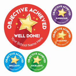 Objective Achieved Praise Stickers
