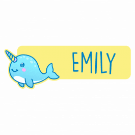 Narwhal Name Labels