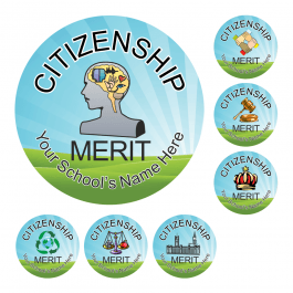Citizenship Scenic Award Stickers