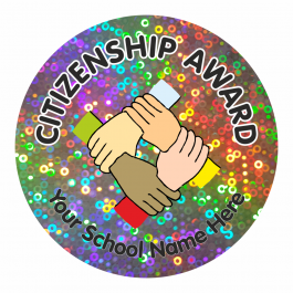 Citizenship Award Sparkly Stickers