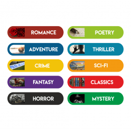 Book Genre Oblong Labels
