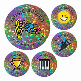 Music Award Sparkly Stickers