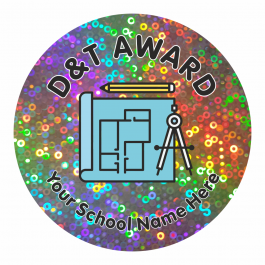 D&T Award Sparkly Stickers