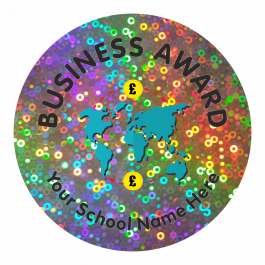 Business Studies Award Sparkly Stickers