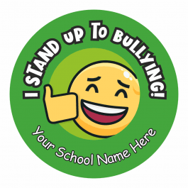 Anti-Bullying 25mm Motto Stickers