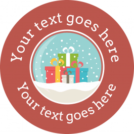 Snow Globe Christmas Stickers