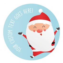 Joyful Santa Christmas Stickers