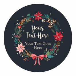 Wreath Christmas Stickers