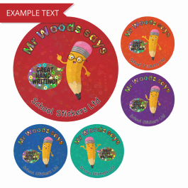 Great Handwriting Sparkly Stickers