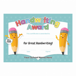 Great Handwriting Certificates