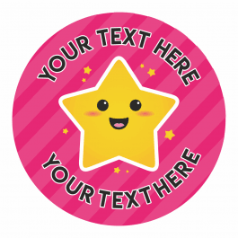 Stripy Star Emoji Stickers