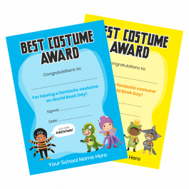 Best Costume Award Certificates