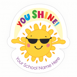 Shining Bright Custom Shape Stickers