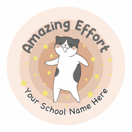 Dancing Kitty Reward Stickers