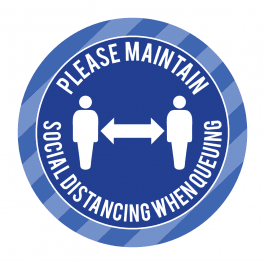 Please Maintain Social Distancing Floor Stickers
