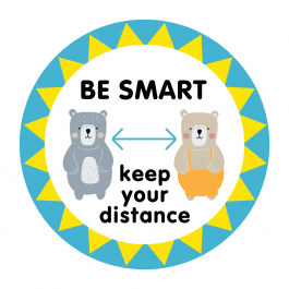 Be Smart Bears Floor Stickers
