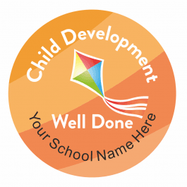 Child Development Rainbow Stickers
