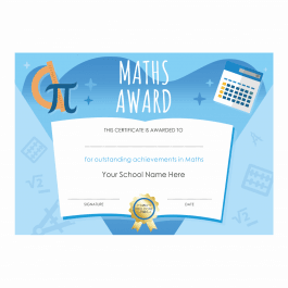 Maths Outstanding Achievement Certificates