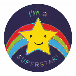 Star Work Sparkly Stickers