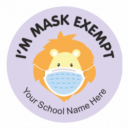 Mask Exempt Animal Stickers