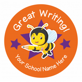 Bumble Bee Writing Stickers