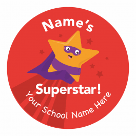 Superhero Superstar Stickers