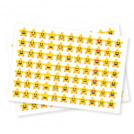 Smiley Star Shape Stickers
