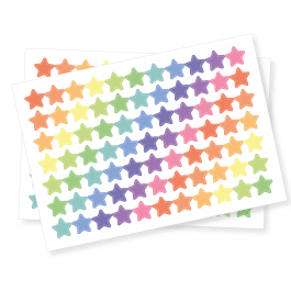 Pastel Star Shape Stickers