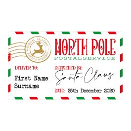 North Pole Postal Service Labels