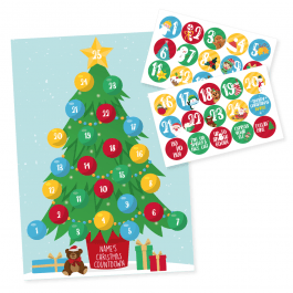 Christmas Tree Sticker Advent Calendar
