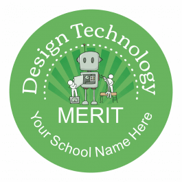 Design Technology Starburst Stickers