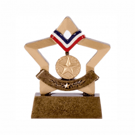 Gold Sports Medal Mini Star Trophy