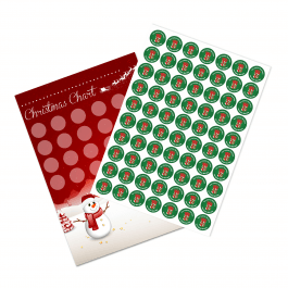 A4 Christmas Reward Chart and 35 Matching Stickers