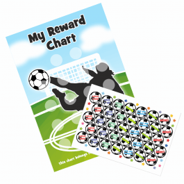 A4 Football 'Goal' Reward Chart and 18 Matching Stickers