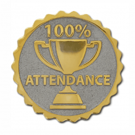 An image of Attendance Round Badge