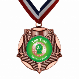 Bronze Medal & Ribbon - 3rd Place Rosette Design