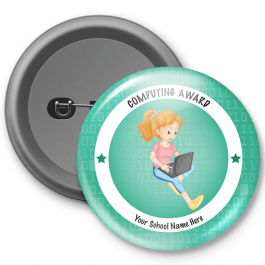 Computing Award Customized Button Badge