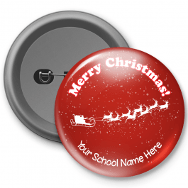 Merry Christmas Customised Button Badge