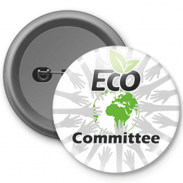 Eco Committee Customisable Button Bagde
